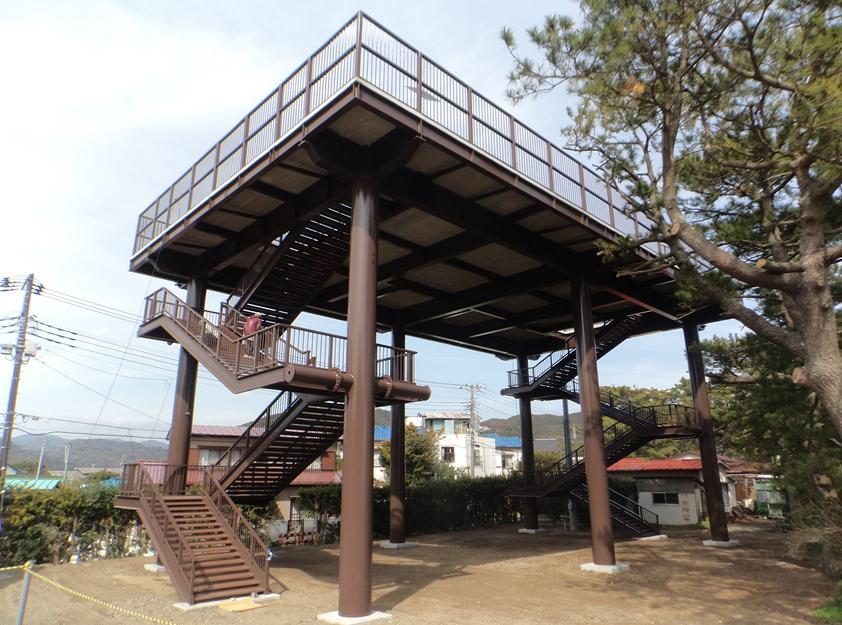 大規模地震対策湊地区避難タワー